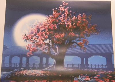 Фото превью вышивки крестом Сакура