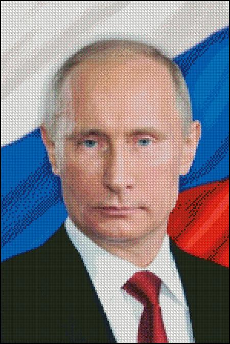 Вышивка портрета по фото президента