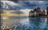 Вышивка крестом Шильонский замок
