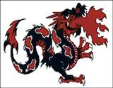Вышивка крестом Дракон изрыгающий пламя
