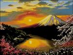 Вышивка крестом Вид на Фудзияму