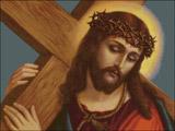 Вышивка крестом Иисус, несущий крест