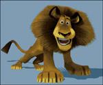 Вышивка крестом Лев Алекс из мультфильма Мадагаскар