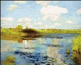 Вышивка крестом Пейзаж Левитана