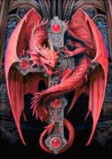 Вышивка крестом Красный дракон