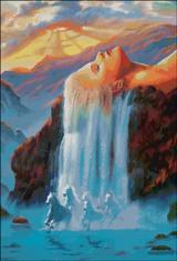 Вышивка крестом Водопад Дж. Уоррена