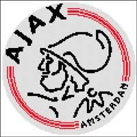Вышивка крестом Эмблема футбольного клуба  Аякс
