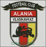 Вышивка крестом Эмблема футбольного клуба Алания Владикавказ