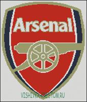 Вышивка крестом Эмблема футбольного клуба Арсенал.