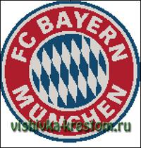Вышивка крестом Эмблема футбольного клуба Бавария (Мюнхен)