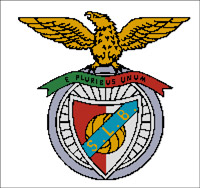 Вышивка крестом эмблема ФК «Бенфика»