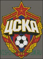Вышивка крестом Эмблема футбольного клуба ЦСКА