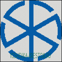 Вышивка крестом Громовик
