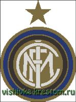 Вышивка крестом Эмблема футбольного клуба ФК Интер
