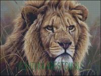Вышивка крестом Лев