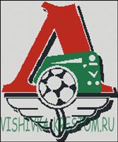 Вышивка крестом Эмблема футбольного клуба Локомотив