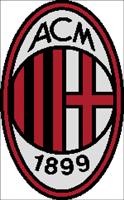 Вышивка крестом эмблема футбольного клуба Милан