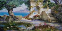 Вышивка крестом Приморский пейзаж