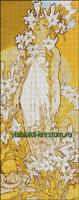 Вышивка крестом Лилия по картине А. Муха