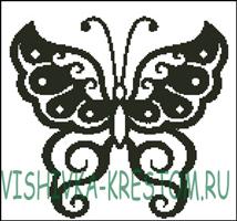 Вышивка крестом Симметричная Бабочка