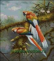 Вышивка крестом Весёлая парочка