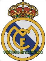 Вышивка крестом эмблема футбольного клуба Реал(Мадрид)