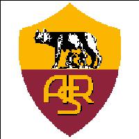 Вышивка крестом эмблема футбольного клуба Рома (Рим)