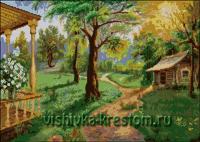 Вышивка крестом Сказочный пейзаж