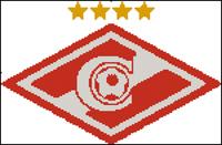 Вышивка крестом Эмблема футбольного клуба Спартак