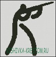 Вышивка крестом Логотип вида спорта Стрельба