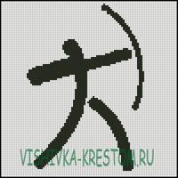 Вышивка крестом Логотип вида спорта Стрельба из лука