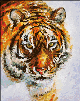 Вышивка крестом Тигр