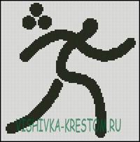 Вышивка крестом Логотип вида спорта Триатлон