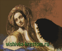 Вышивка крестом Турчанка по картине Брюллова