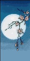 Вышивка крестом Ветка сакуры