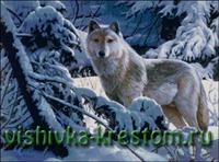 Вышивка крестом Волк