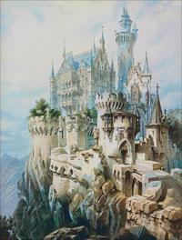 Вышивка крестом Замок лебединый утес