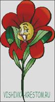 Вышивка крестом Цветик