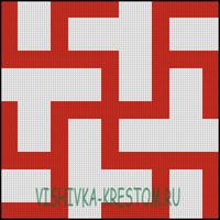 Вышивка крестом Цветок Папоротника