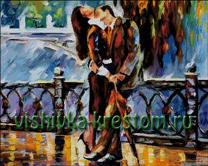 Схема для вышивки крестом: Пара на мосту - Афремов