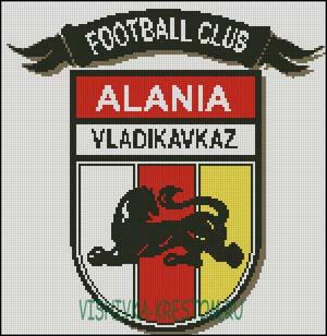 Схема для вышивки крестом: Эмблема футбольного клуба Алания Владикавказ