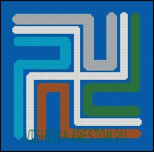 Схема для вышивки крестом: Алтарник