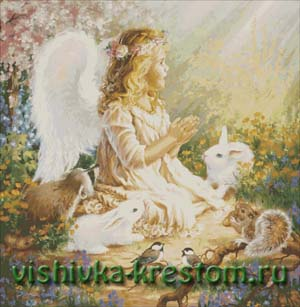 Схема для вышивки крестом: Ангелок.Волшебная поляна.