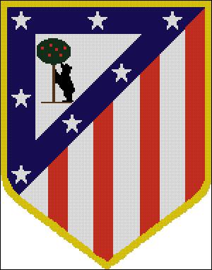 Вышивка крестом эмблема ФК Атлетико Мадрид