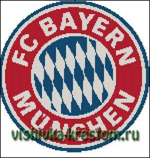 Схема для вышивки крестом: Эмблема футбольного клуба Бавария (Мюнхен)