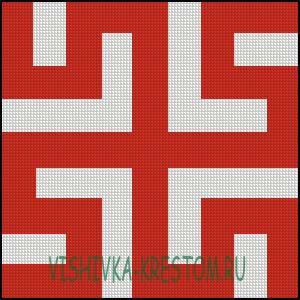 Схема для вышивки крестом: Боговник