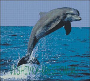 Схема для вышивки крестом: Дельфин