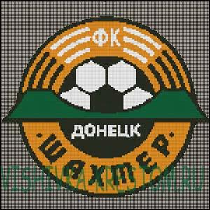 Вышивка крестом Эмблема футбольного клуба Шахтер Донецк