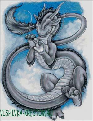 Схема для вышивки крестом: Китайский дракон