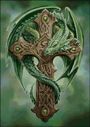 Схема для вышивки крестом: Лесной Страж